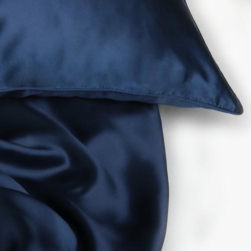 Seidenbettwäsche navy-blue