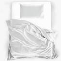 Seidenbettwäsche Set 160x210cm natur-weiss