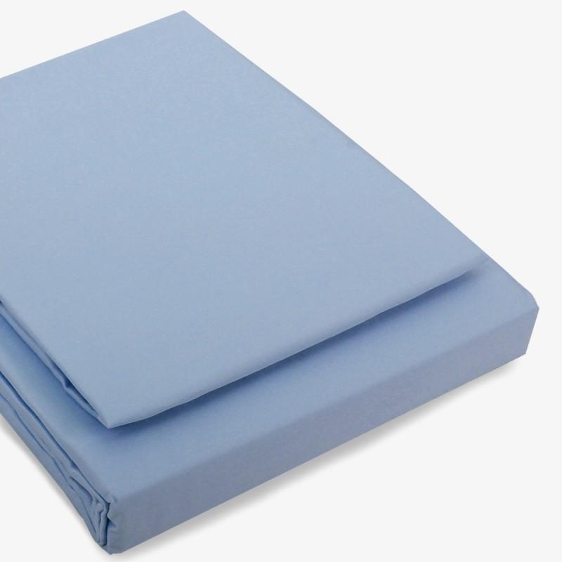 Einzelstück: Seidenbettwäsche Set hellblau 160x210cm