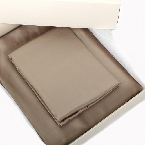 Einzelstück: Seidenbettwäsche Set caramel 160x210cm