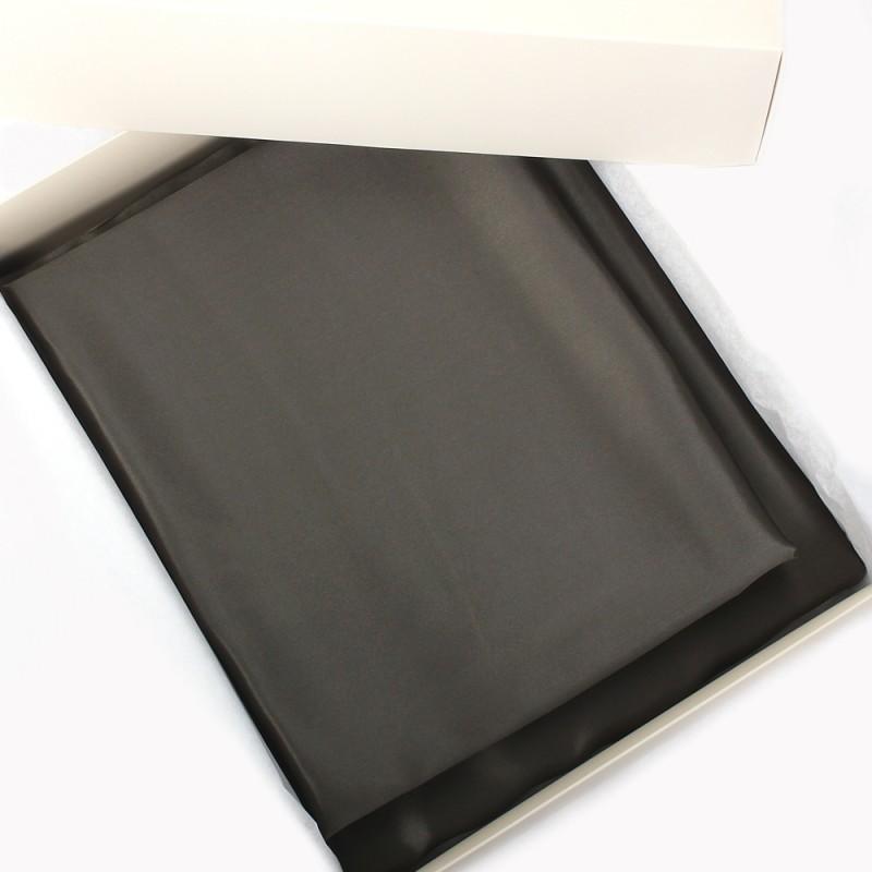 Einzelstück: Seidenbettwäsche Set dunkelgrau 160x210cm