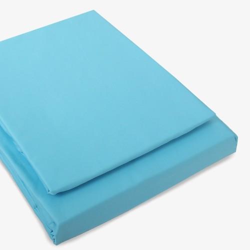 Satin Bettwäsche leuchtblau