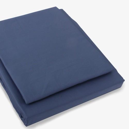 Satin Bettwäsche Set 160x210cm dunkelblau